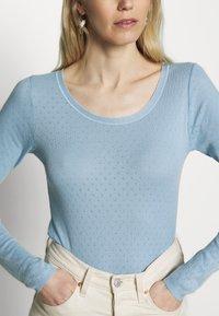 Noa Noa - BASIC NEW POINTELLE  - Long sleeved top - powder blue - 4