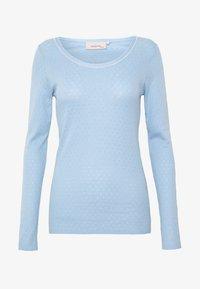 Noa Noa - BASIC NEW POINTELLE  - Long sleeved top - powder blue - 3