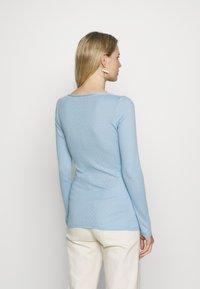 Noa Noa - BASIC NEW POINTELLE  - Long sleeved top - powder blue - 2