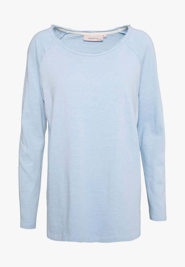 ESSENTIAL HEAVY SLUB - Long sleeved top - powder blue