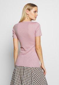 Noa Noa - BASIC NEW - T-shirt imprimé - dawn pink - 2