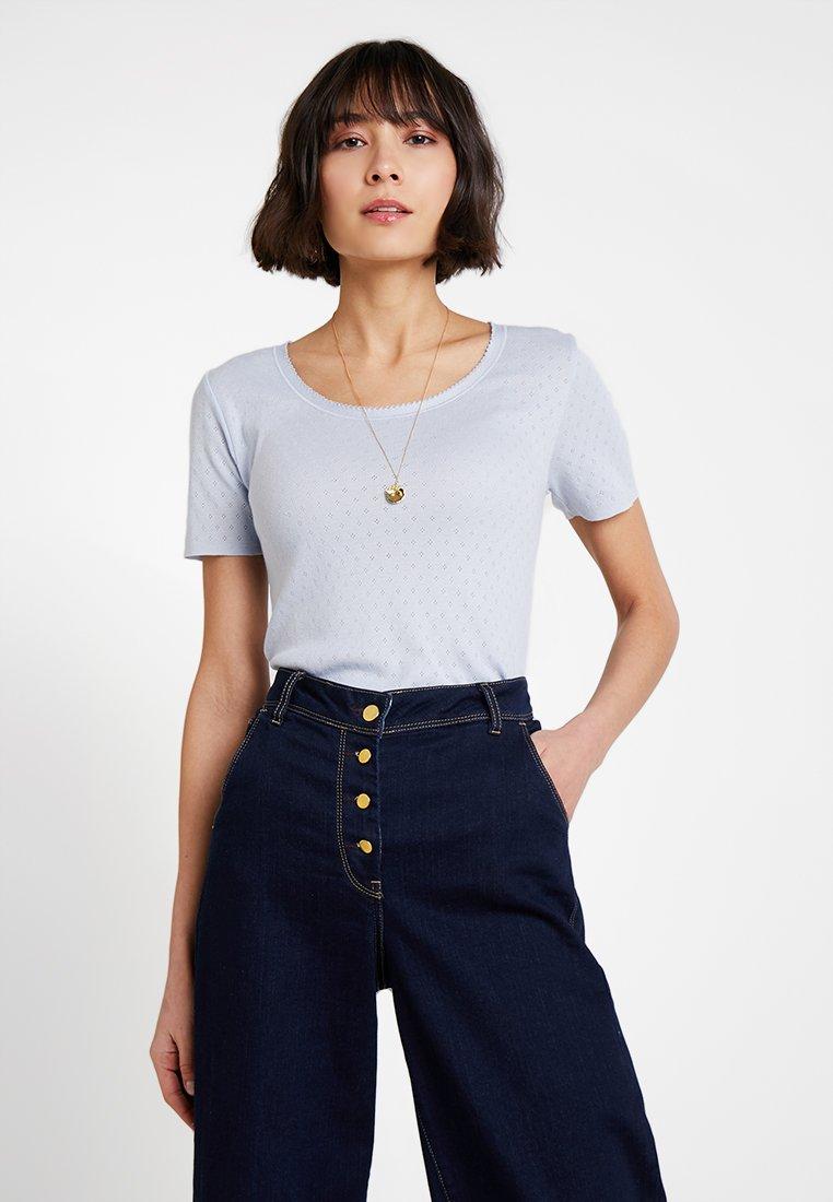 Noa Noa - BASIC NEW - Print T-shirt - zen blue