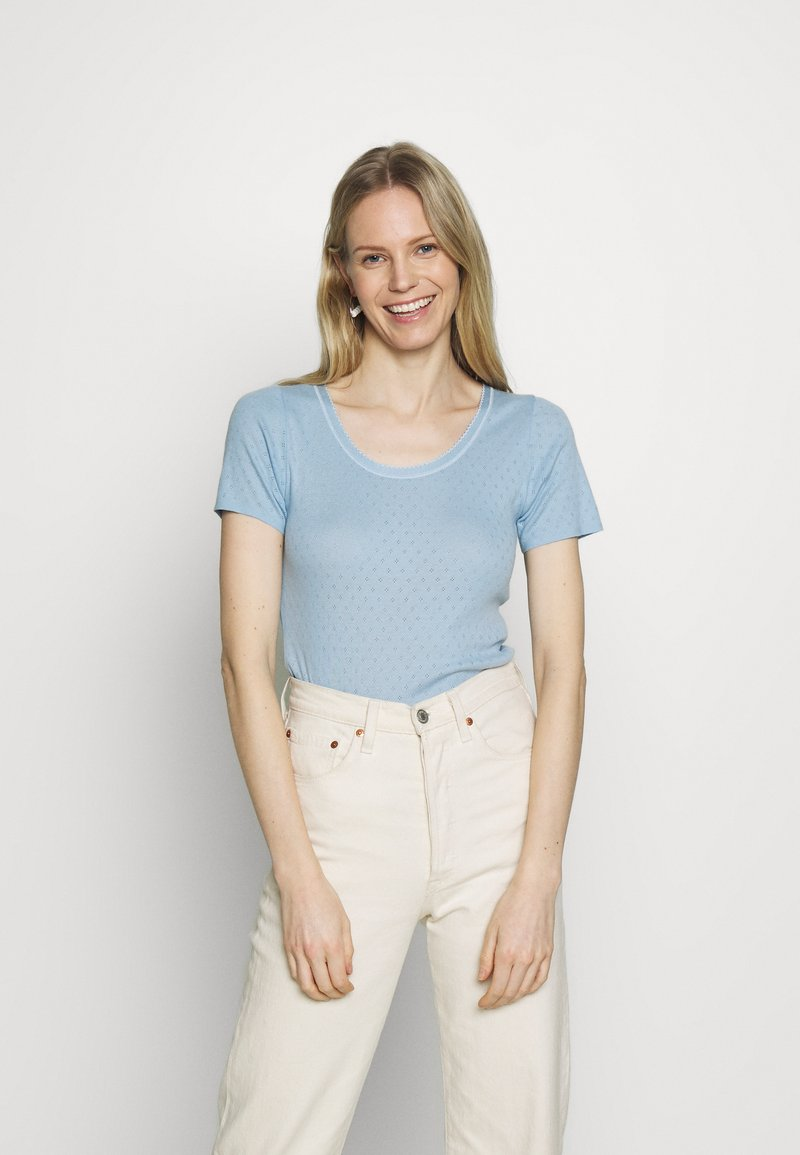 Noa Noa - BASIC NEW - Print T-shirt - powder blue
