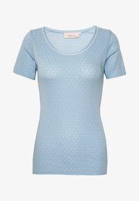 Noa Noa - BASIC NEW - Print T-shirt - powder blue - 3