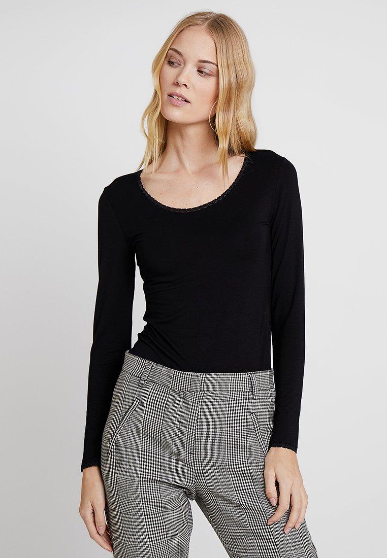 Noa Noa - BASIC - Long sleeved top - black