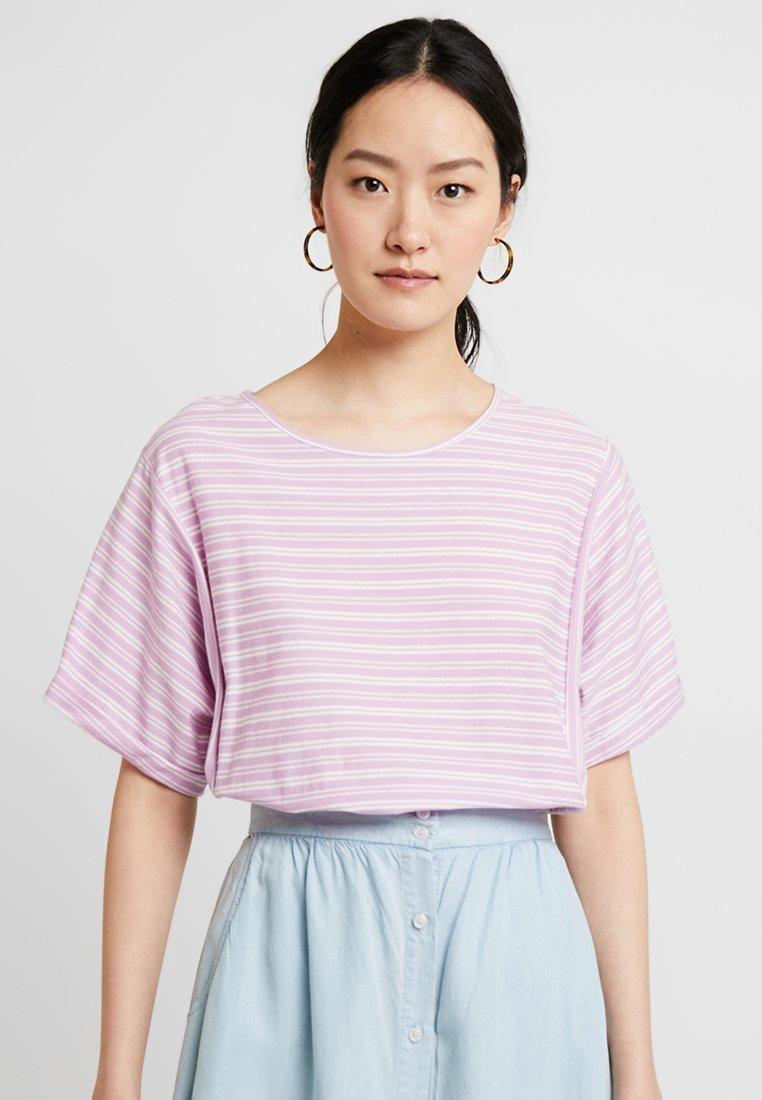 Noa Noa - STRIPED - T-Shirt print - purple