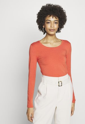 ESSENTIAL COTTON STRETCH - Long sleeved top - summer fig
