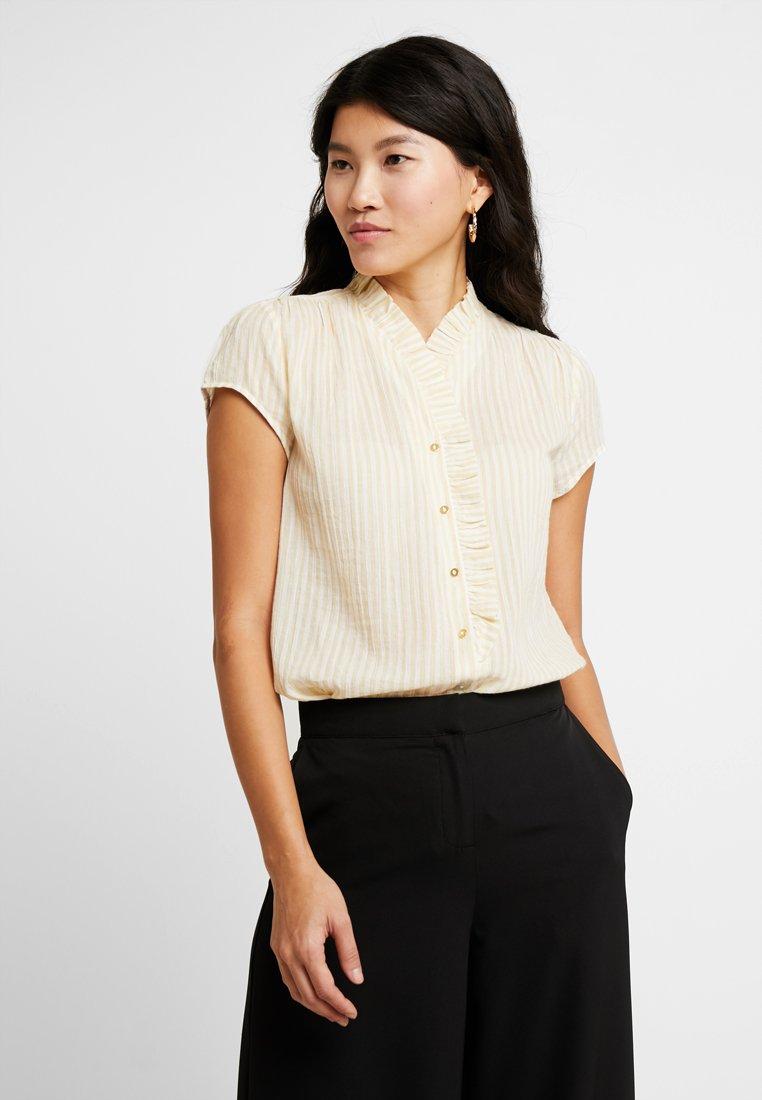 Noa Noa - CREASED SHEER - Button-down blouse - art yellow
