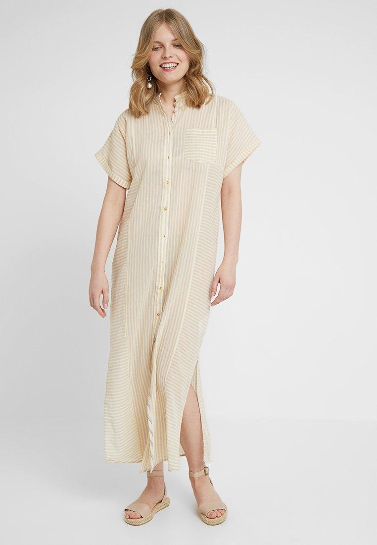 Noa Noa - CREASED SHEER - Shirt dress - art yellow