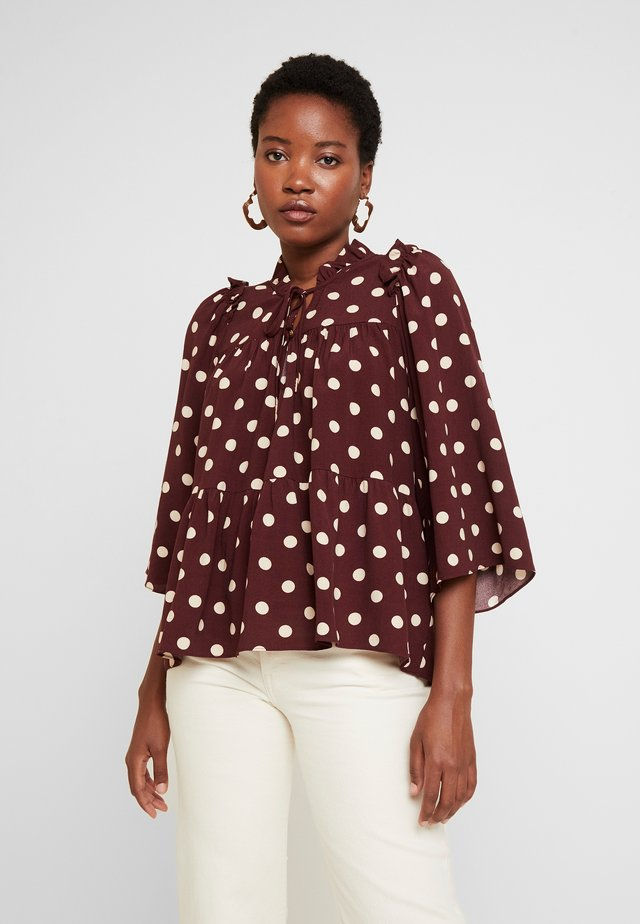 BLOUSE SLEEVE - Blůza - bordeaux