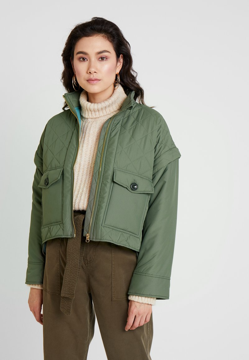 Noa Noa - FUNCTIONAL QUILT - Summer jacket - army green