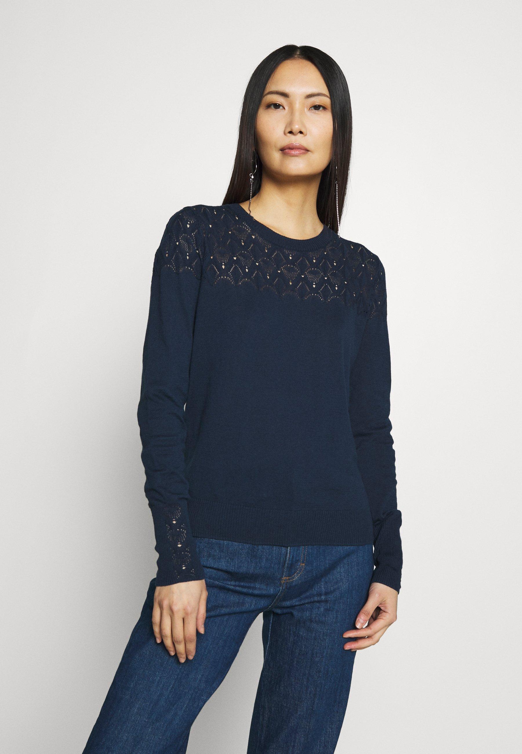 Noa Noa ESSENTIAL - Sweter - dress blues