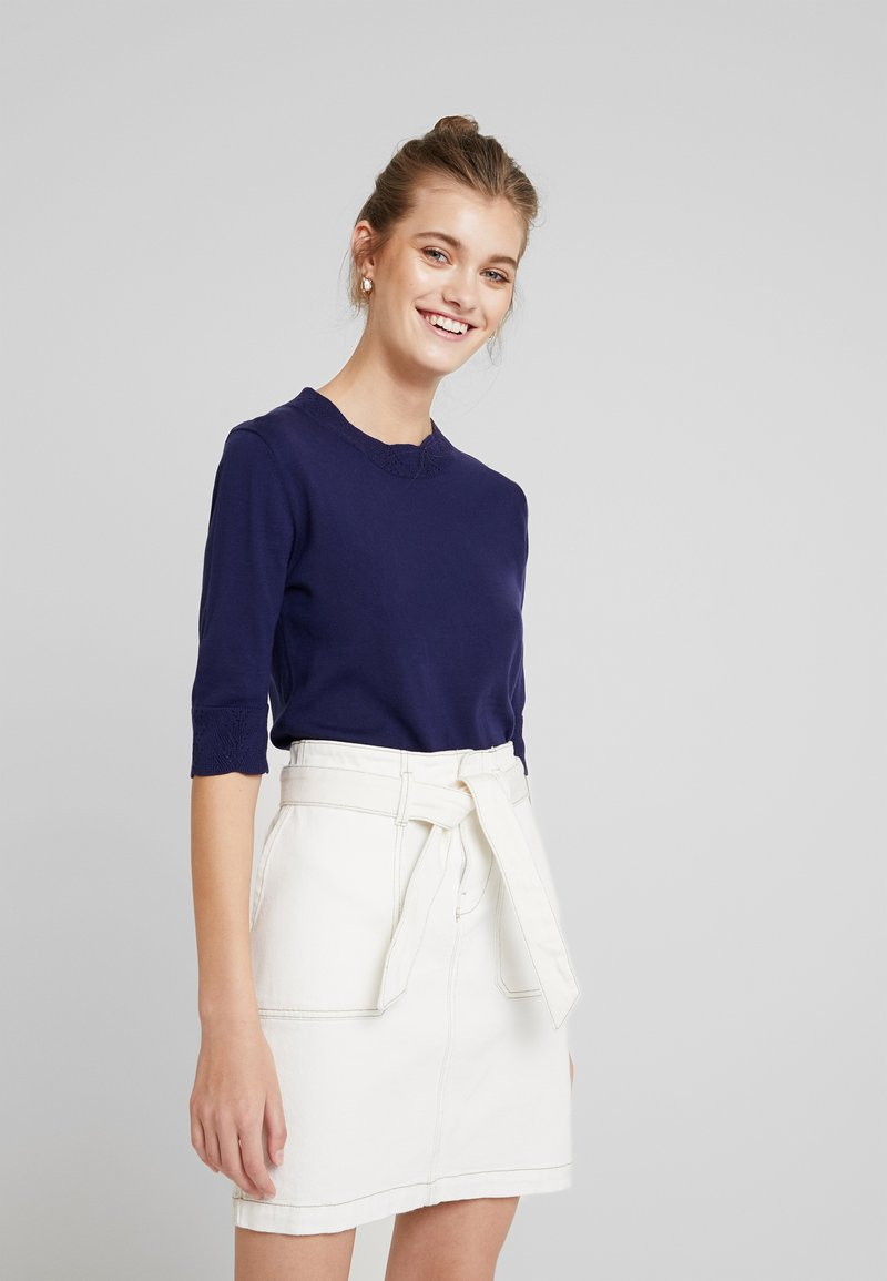 Noa Noa - BASIC - T-Shirt basic - peacoat