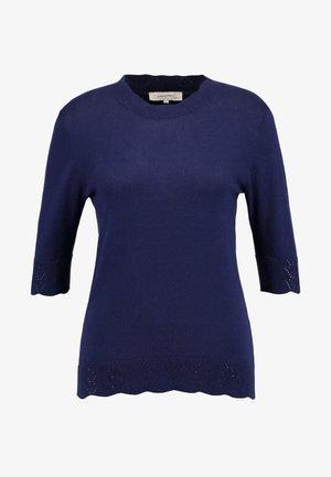 BASIC - Jednoduché triko - peacoat