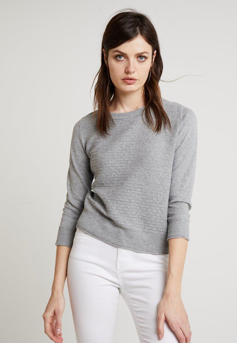 Noa Noa - BASIC - Strickpullover - grey melange