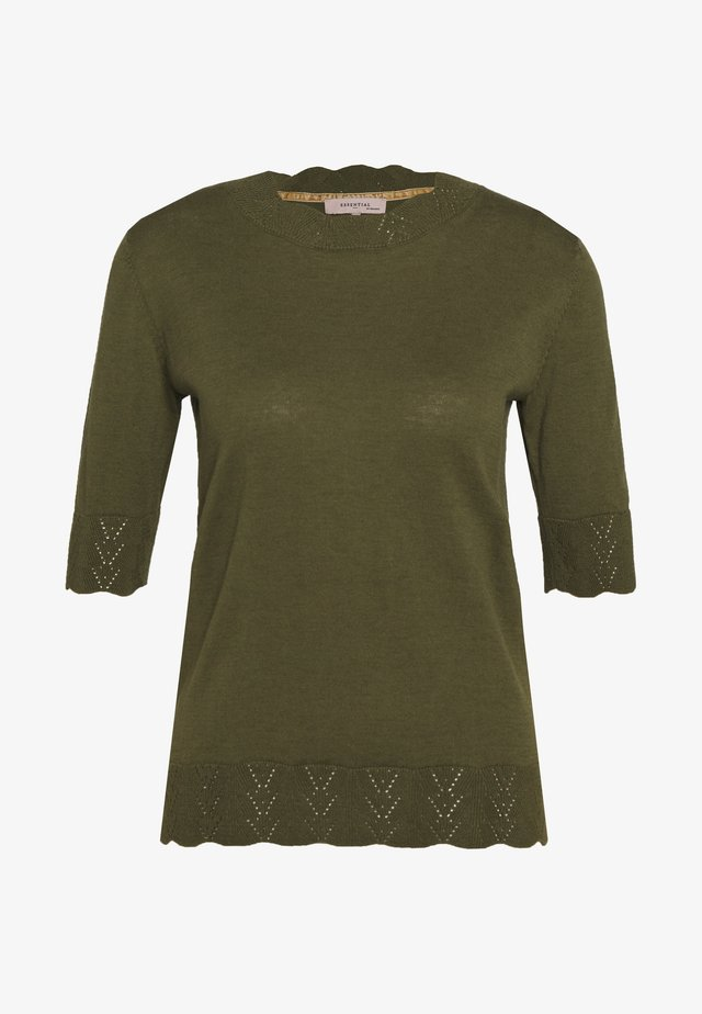 ESSENTIAL - T-shirts med print - winter moss