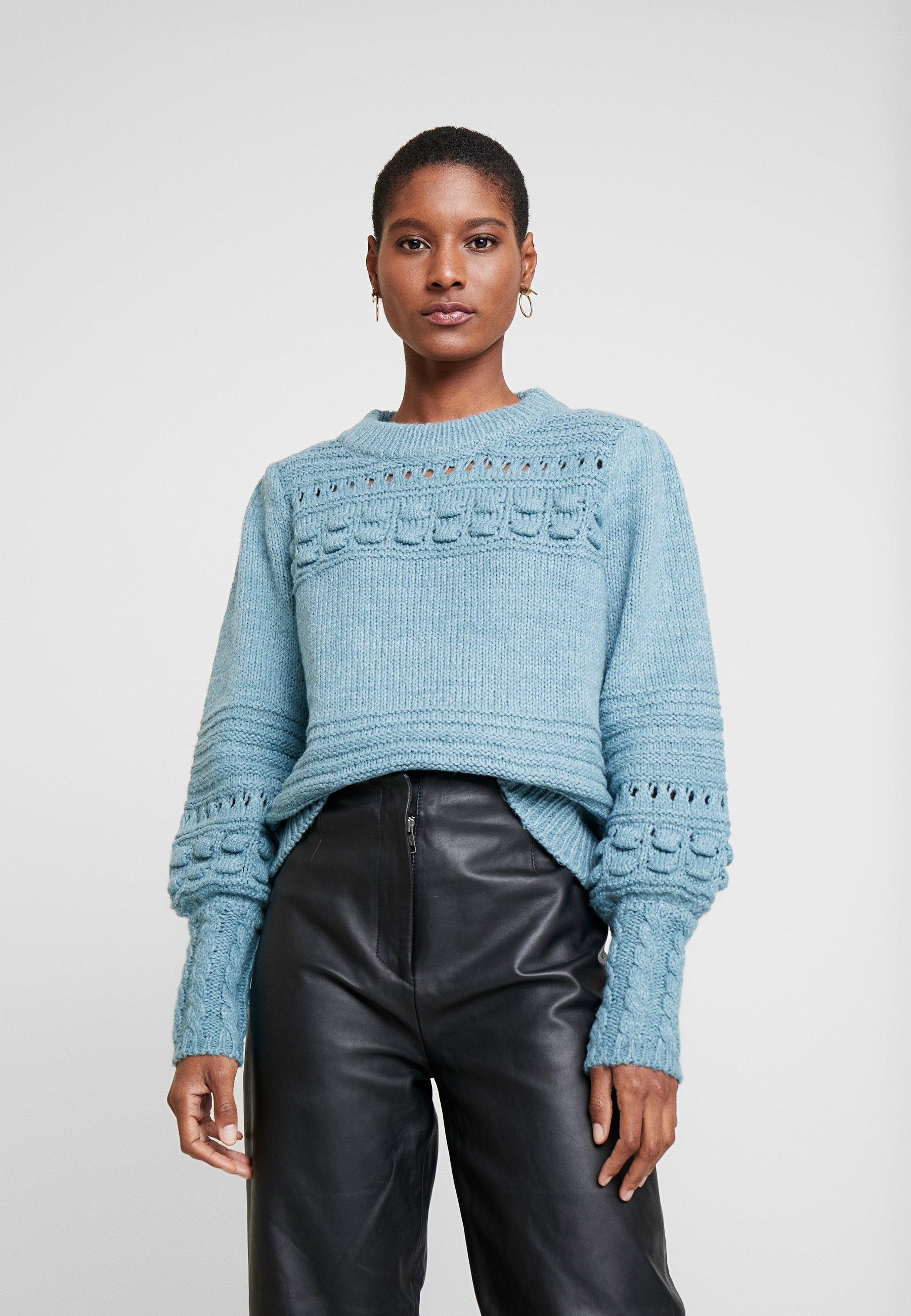 Noa Noa COLOURING - Sweter - cameo blue