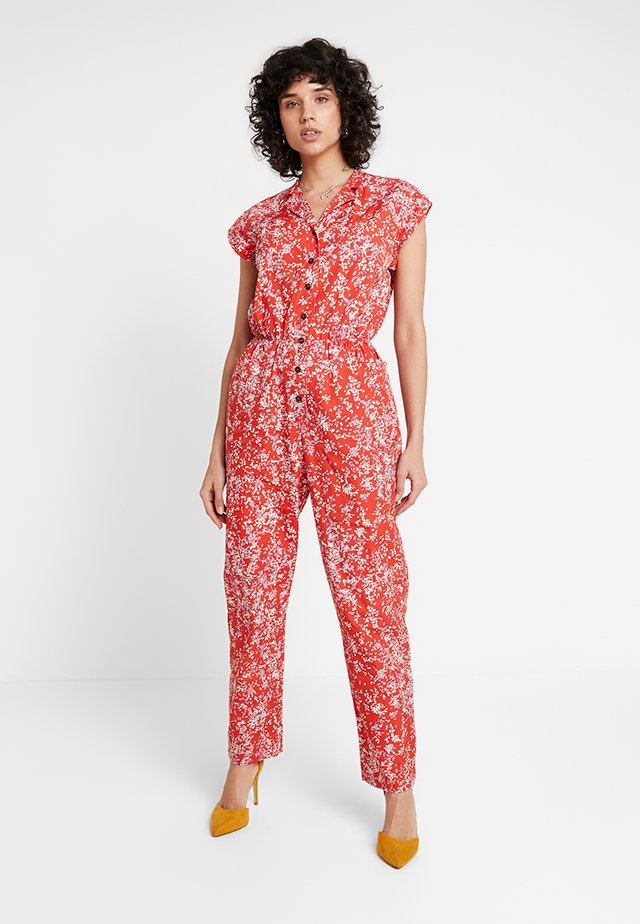 HEAVY POPLIN - Overall / Jumpsuit - red