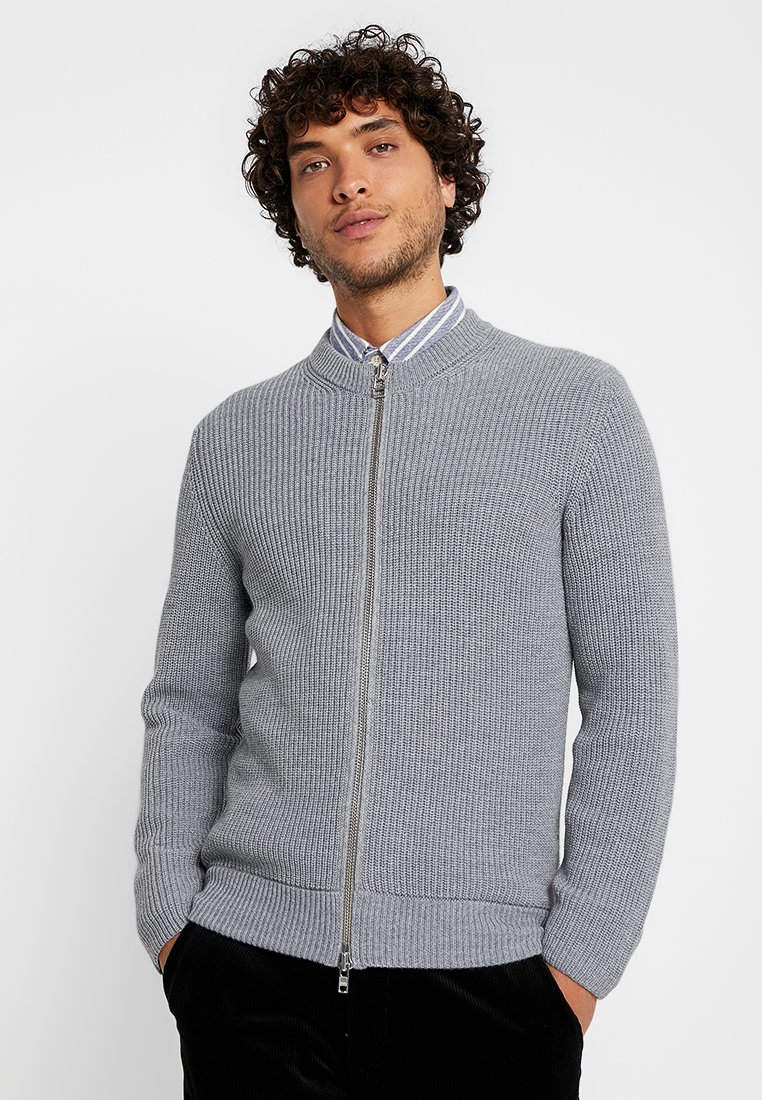 NN07 - SMITH ZIP  - Chaqueta de punto - light greymelange