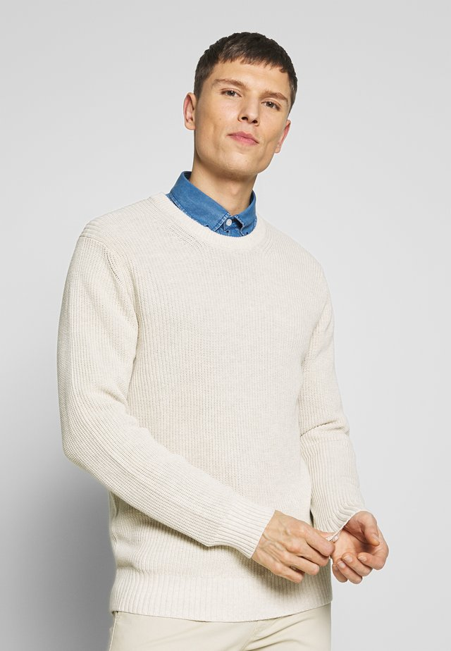 KNUT  - Strickpullover - light khaki melange