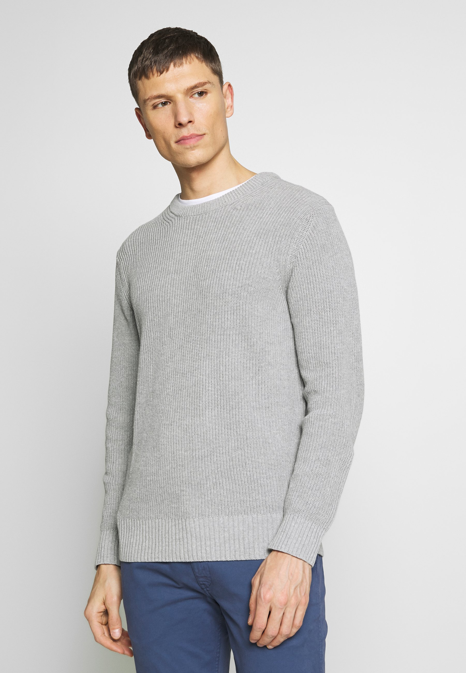 NN07 KNUT - Sweter - medium grey melange