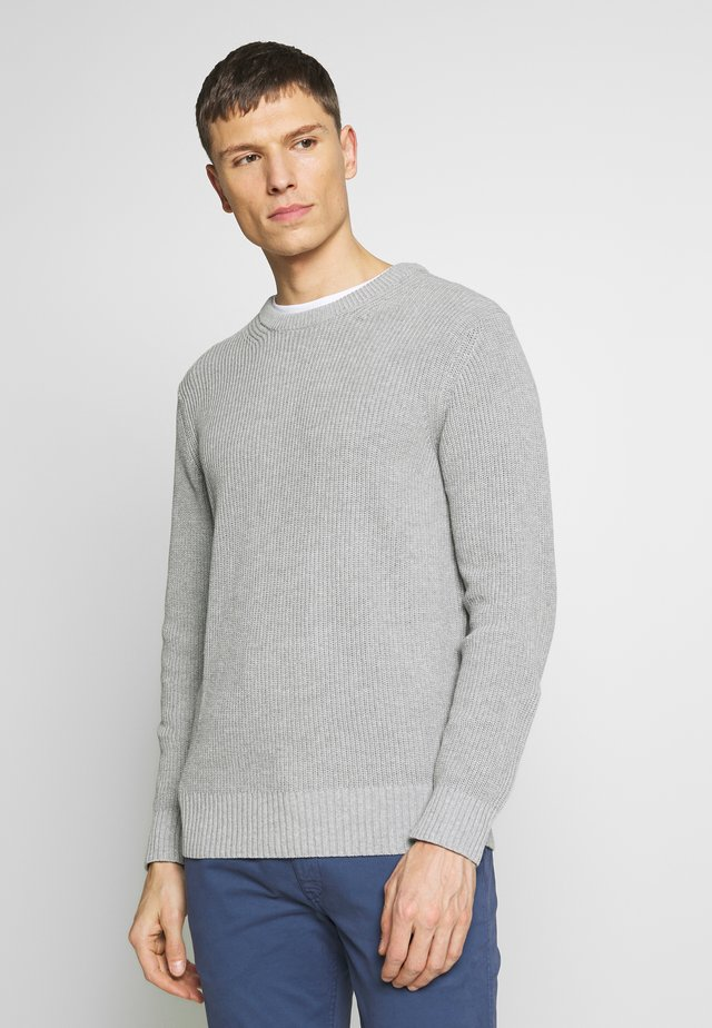 KNUT  - Strickpullover - medium grey melange