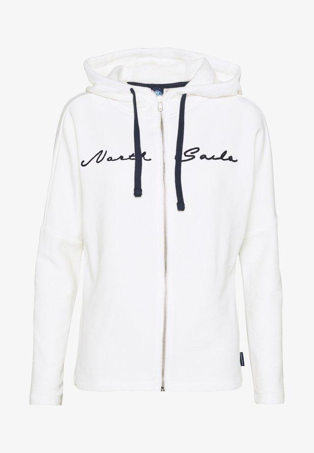 HOODED FULL ZIP GRAPHIC - veste en sweat zippée - marshmallow