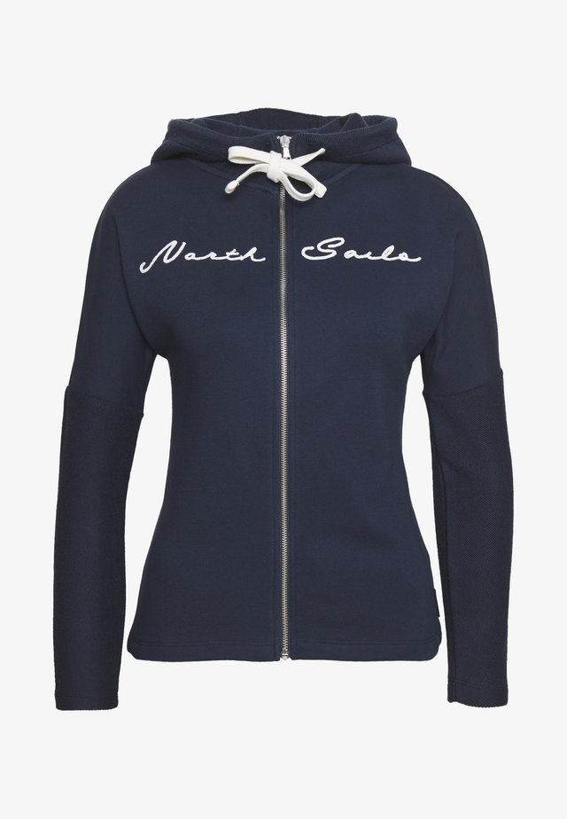 HOODED FULL ZIP GRAPHIC - Huvtröja med dragkedja - blue navy