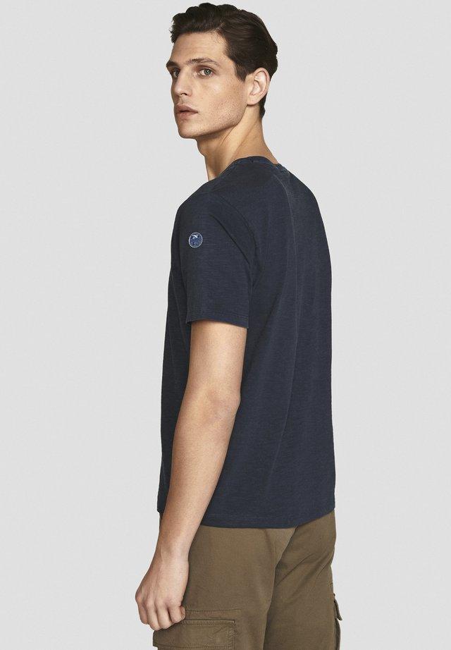 T-shirt print - black/light grey