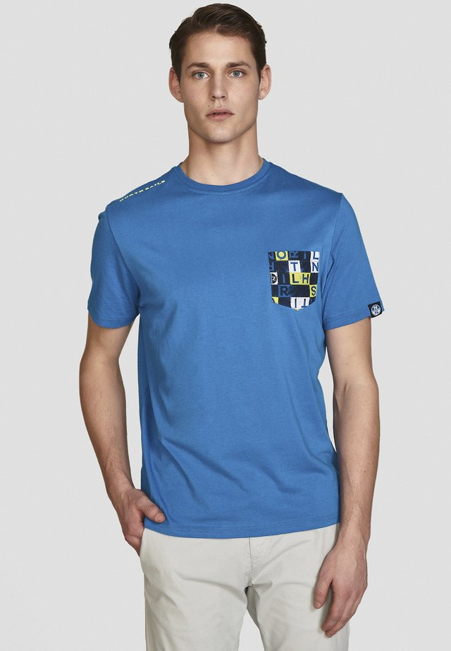 T-shirt con stampa - royal
