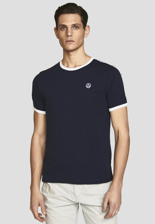 T-shirt con stampa - navy blue