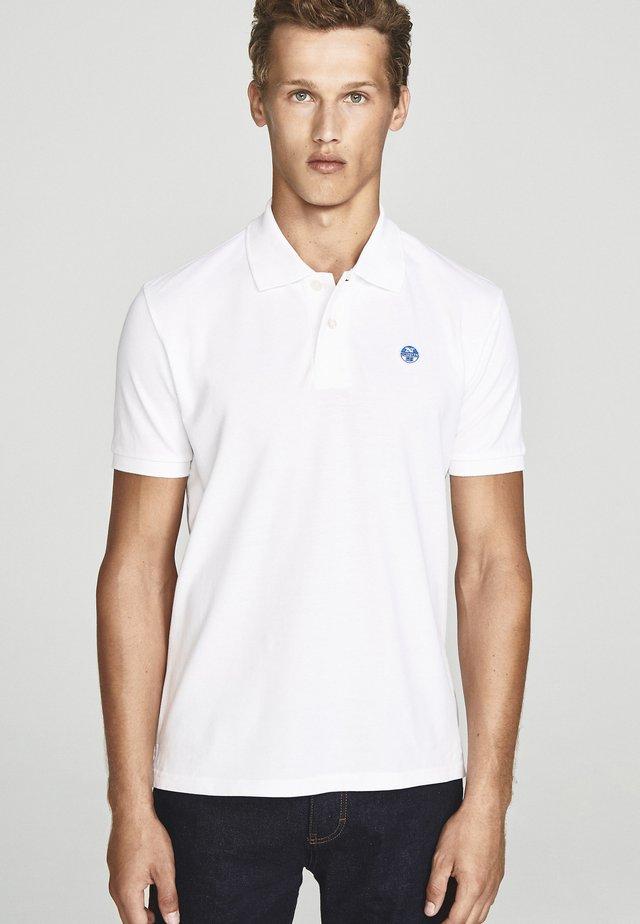 WITH APPLIQUÉS - Poloshirt - white