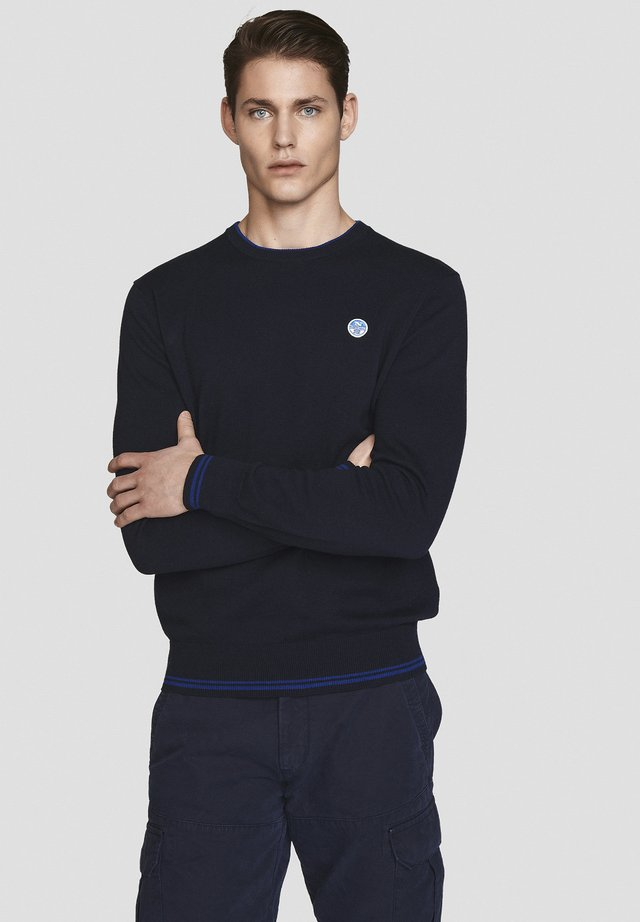 Strickpullover - navy blue