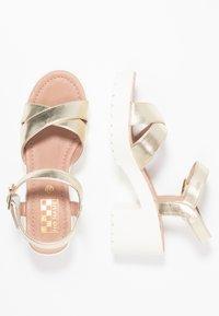 No Name - TANGO ANKLE - Korkeakorkoiset sandaalit - gold/white - 3