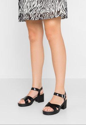 TANGO ANKLE - Platform sandals - black