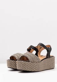 No Name - BETTY  - Korkeakorkoiset sandaalit - black/natural - 4