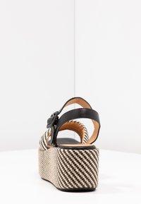 No Name - BETTY  - Korkeakorkoiset sandaalit - black/natural - 5