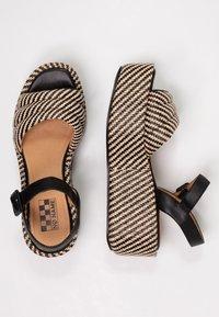 No Name - BETTY  - Korkeakorkoiset sandaalit - black/natural - 3