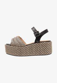 No Name - BETTY  - Korkeakorkoiset sandaalit - black/natural - 1