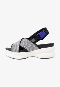 No Name - CONCRETE BAND - Korkeakorkoiset sandaalit - white - 1