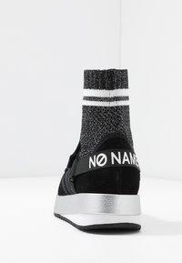No Name - FUTURA SOCKS - Korkeavartiset tennarit - black - 5