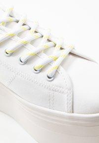 No Name - PLATO  - Trainers - white/yellow fluo - 2