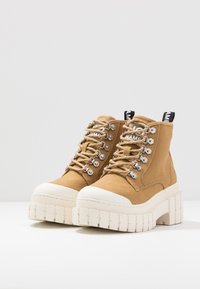 No Name - KROSS LOW - Ankle boots - tan/ivory - 4