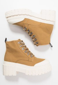No Name - KROSS LOW - Ankle boots - tan/ivory - 3