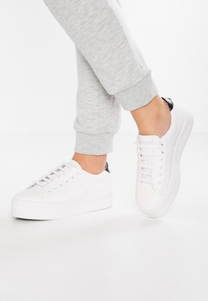 PLATO SNEAKER - Matalavartiset tennarit - white/black