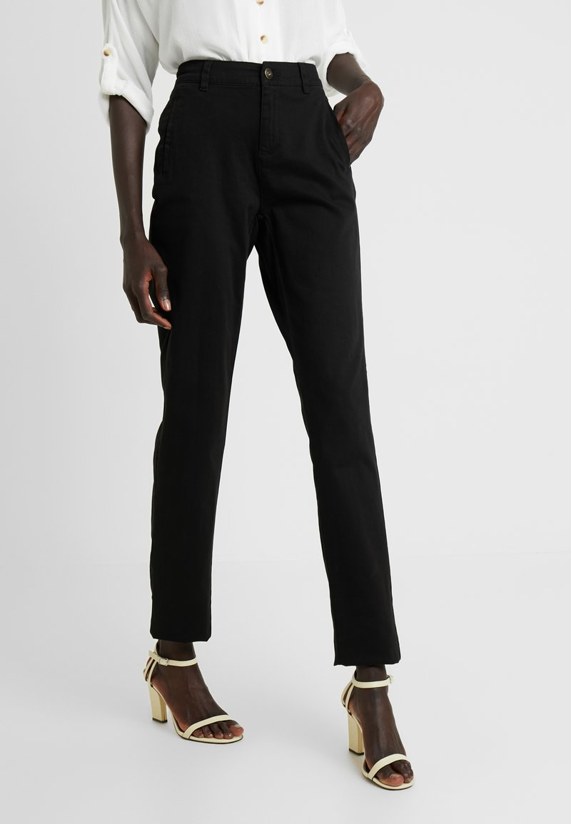 Noisy May Tall - NMHARLEM REGULAR PANTS - Broek - black