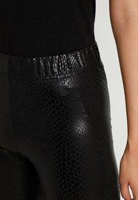 Noisy May Tall - NMBELLA CROCODILE COATED - Leggings - Trousers - black - 4