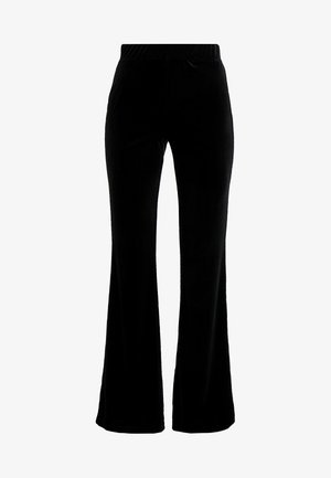 NMVELLA FLARED PANT - Pantalones - black