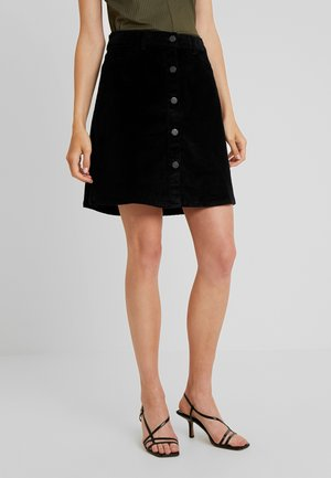 NMSUNNY SHORT SKIRT - Jupe trapèze - black