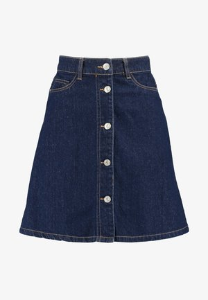 NMSUNNY ORGANIC SKIRT  - A-linjekjol - dark blue denim